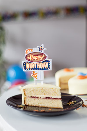 Battery operated birthday cake candles.