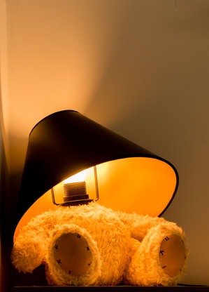 Teddy Lamp Black Shade