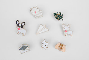 Assorted enamel pins office secret santa and birthday gifts