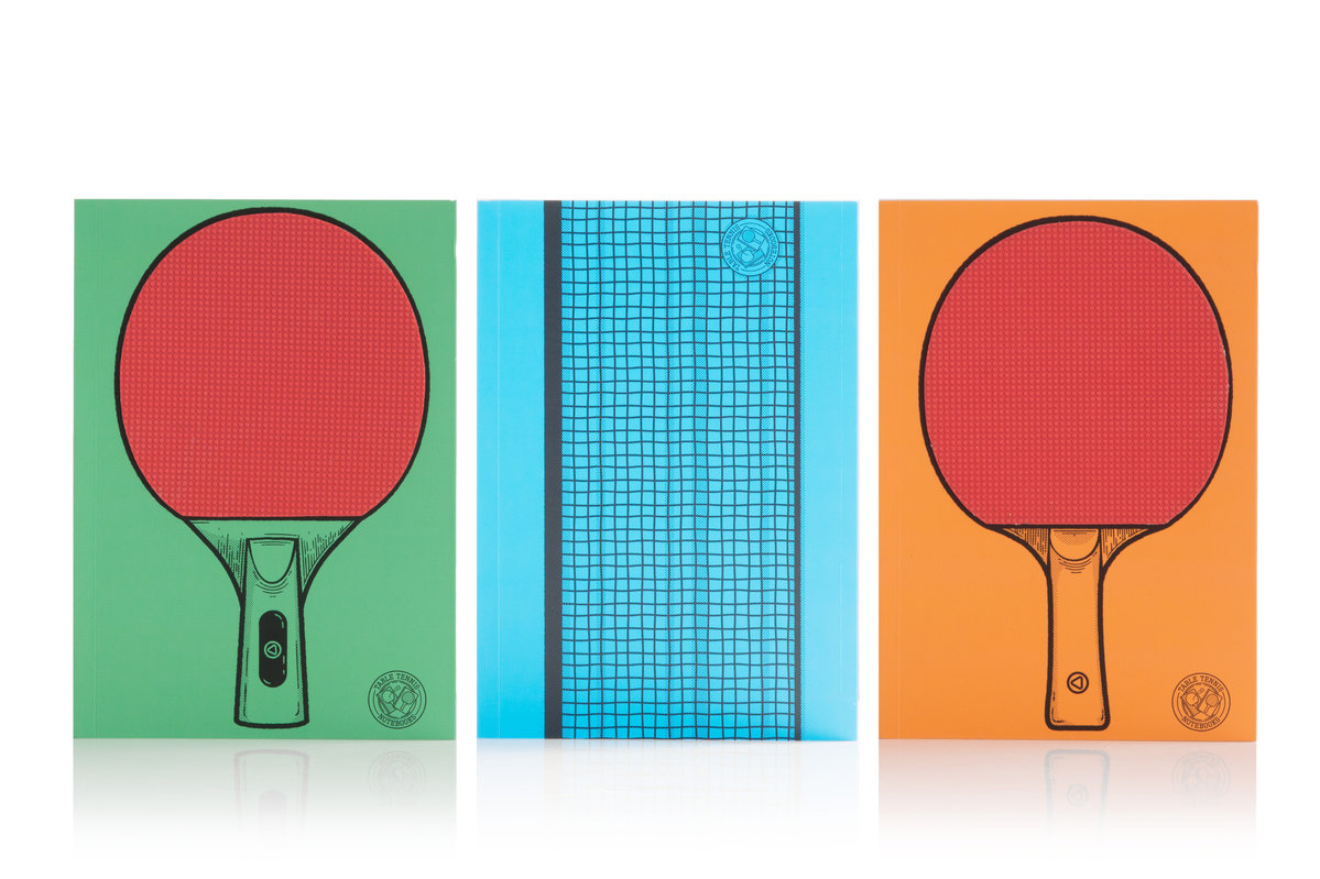 Table Tennis Notebooks Two Bats And A Net Printed Onto Notebook Rackets Racket Diagram Covers