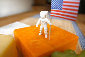 Original space mission theme cheese toothpick holder