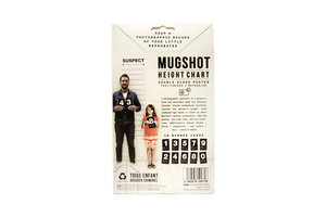 Mugshot height chart packaging from back