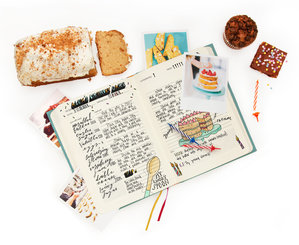 Baking journal for recording your favourite recipes