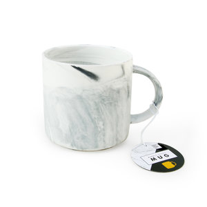 Sleek grey marble mug for friends and workmates