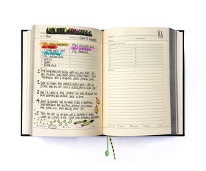 personalised dairy and log book fro gardening