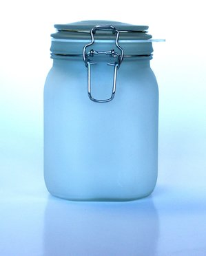 blue jar light