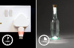 Bottle Light charging time only 1 hour in any USB phone charger