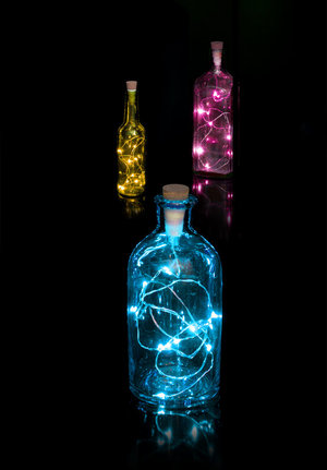 Decorative empty bottles mood light cork for work colleagues