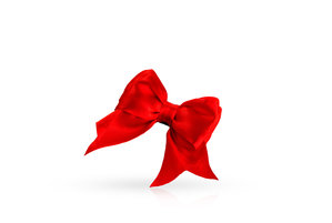 Beautiful red bow with happy birthday music function