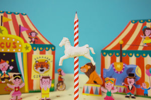 Circus Carousel Horse Eraser & Pencil set back to school
