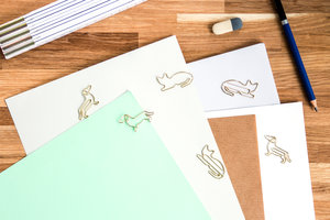 Animal shaped paper clips for secret santa and stocking fillers