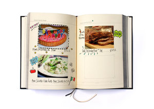 Blank Recipe Book. Gallery sections for photos of your best kitchen creations.
