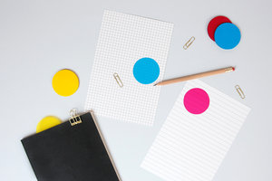 CMYK Transparent sticky notes great for making a bright impression