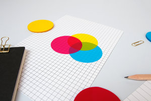 CMYK Transparent sticky notes brighter than usual yellow pot-it notes