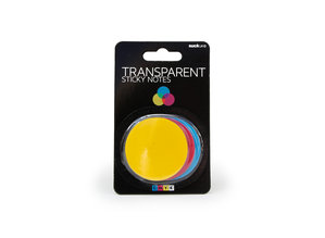 CMYK Transparent sticky notes, three colours in one pack