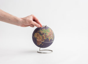 Mini color Cork Globe