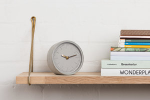 Sleek grey concrete desk clock for friends and workmates