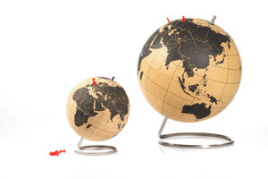 cork board world globe in different sizes