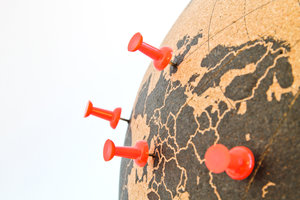 cork globe available online