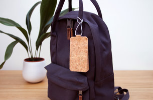 Luggage tag made of cork for quirky globetrotters