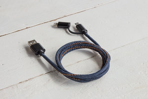 Denim designer USB charger for iphone and micro usb