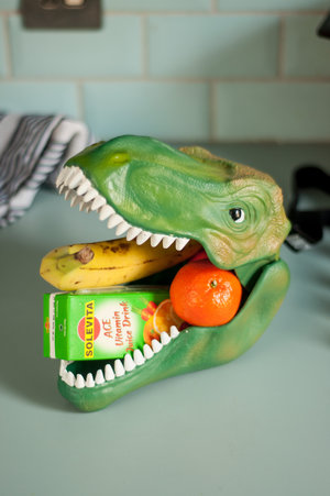 dinosaur lunchbox uk with fruits