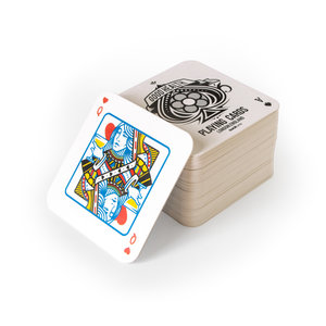 Set of 52 playing card beer mats