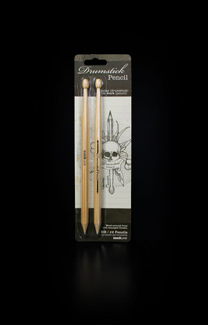 Drumstick Pencils packaging design by SUCK UK (front shown on black)