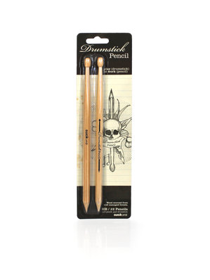 Drumstick Pencils packaging design by SUCK UK (front)