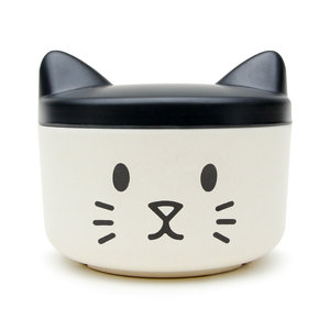 Hello kitty style pet portable treat bowl and food container