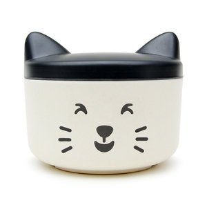 Smiling cat face food and treat bowl for house pets