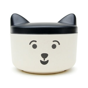 Happy kitten face food tupperware for animals like cats and dogs