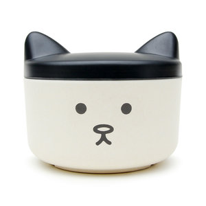 Baffled cat face food box for small animals and treat container