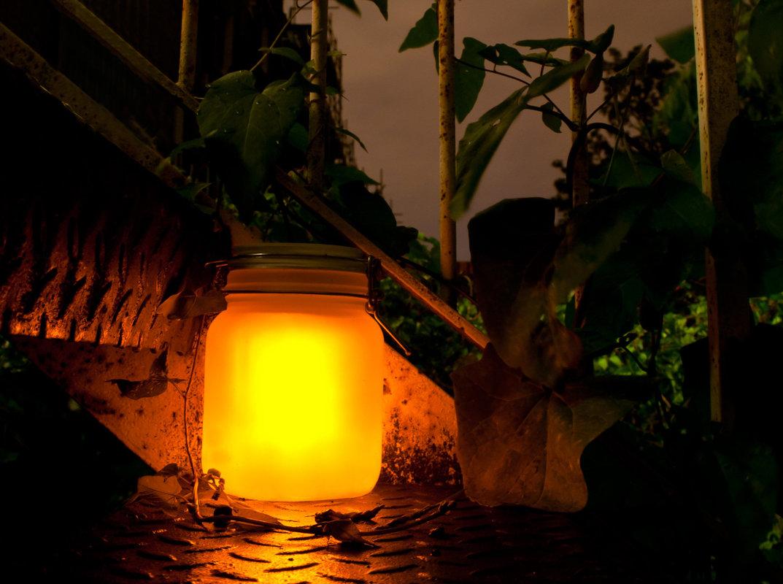 Sun Jar Solar Powered Garden Light In A Mason Jar