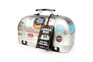 Tin food truck lunch box with swing tag