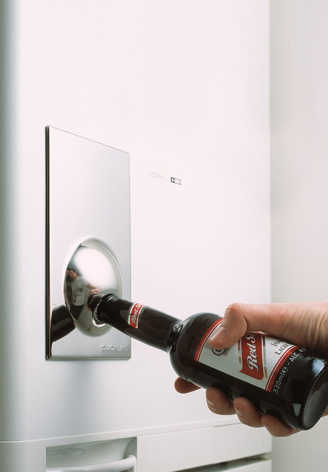 Magnetic Bottle Opener Sticks To Your Fridge And Open