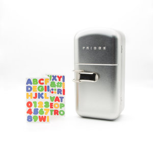 Fridge lunchbox with alphabet stickers