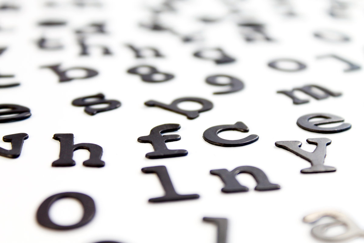 Fridge Fonts : Fridge magnet letters with character