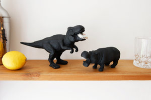 dinosaur and hippo animal bottle openers