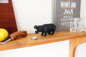 cast iron hippo bottle opener and decoration