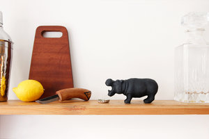 Novelty Hippo Bottle Opener - Animal Shaped Cast Iron Barware