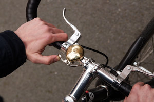 screw on handle bar bicycle bell made of brass