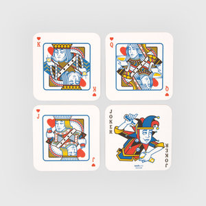 Drink mat playing cards