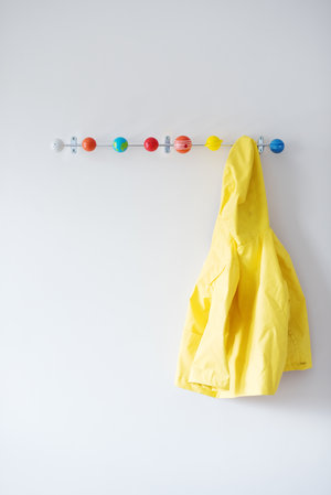 Solar System Coat Hooks made from solid metal with colourful wooden planets