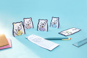 Lucky Cat Themed Memo Pads