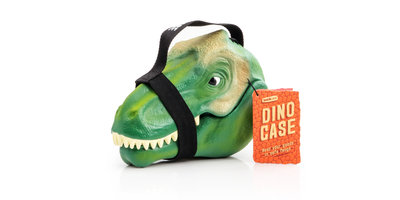 lunch box dinosaur with white background