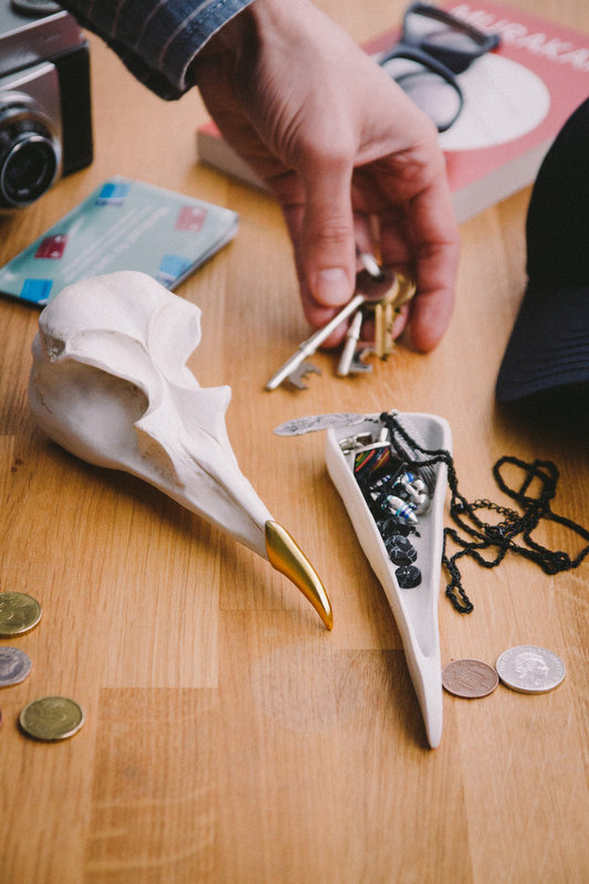 02aff252c high-end vintage inspired décor that can be displayed in homes, kitchens,  bedrooms, loose change and household essentials safe, Bird skull shaped  jewellery ...