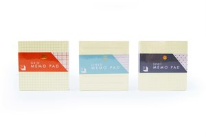 Memo pads in three different designs