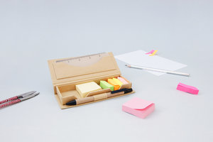 good design works memo pad and ruler set in cardboard case