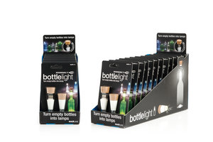 Bottle Light Twin Packs by SuckUK come with retail POS display merchandisers.